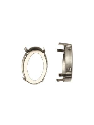 Castone per gemma o cabochon ovale da 18x25 mm.