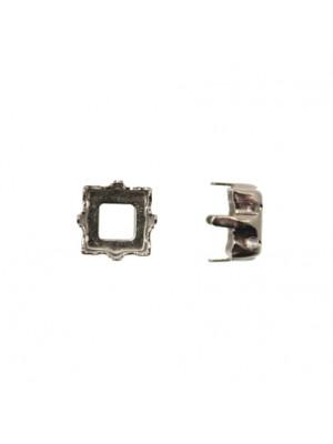 Castone per gemma o cabochon quadrate da 8x8 mm.