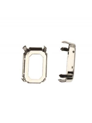 Castone per gemma o cabochon rettangolare da 18x25 mm. con gli angoli smussati.