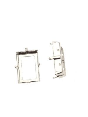 Castone per gemma o cabochon rettangolare da 18x13 mm. (STEP CUT)