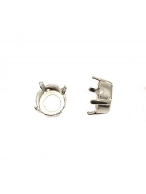 Castone per gemma o cabochon tondo da 10,5 mm. circa (SS47)