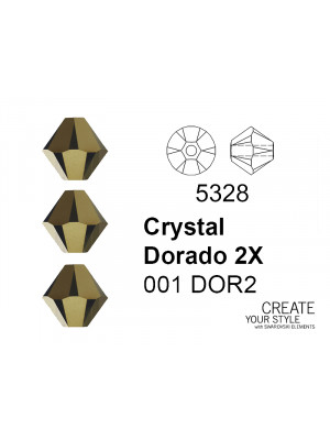 Swarovski Bicono CRYSTAL DORADO 2X - 5328