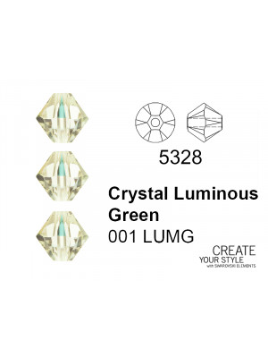 Swarovski Bicono CRYSTAL LUMINOUS GREEN - 5328