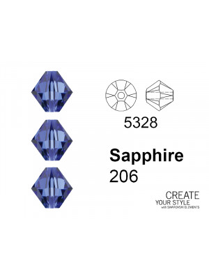 Swarovski Bicono SAPPHIRE - 5328