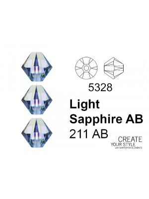 Swarovski Bicono LIGHT SAPPHIRE AB - 5328