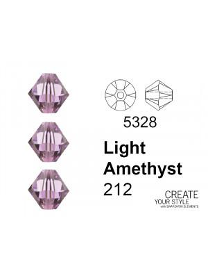 Swarovski Bicono LIGHT AMETHYST - 5328