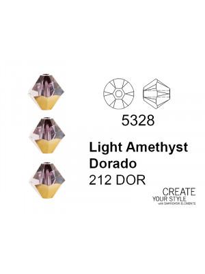 Swarovski Bicono LIGHT AMETHYST DORADO - 5328