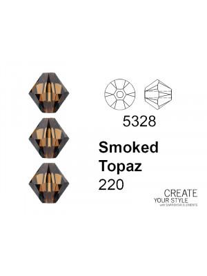 Swarovski Bicono SMOKED TOPAZ - 5328