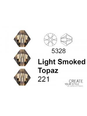 Swarovski Bicono LIGHT SMOKED TOPAZ - 5328