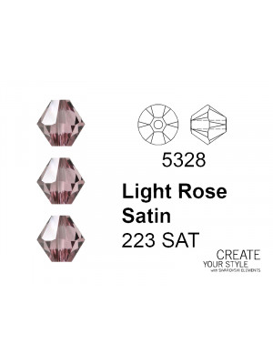 Swarovski Bicono LIGHT ROSE SATIN - 5328