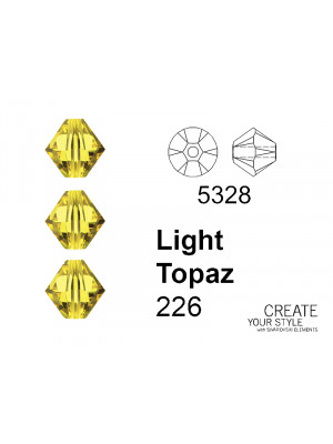 Swarovski Bicono LIGHT TOPAZ - 5328