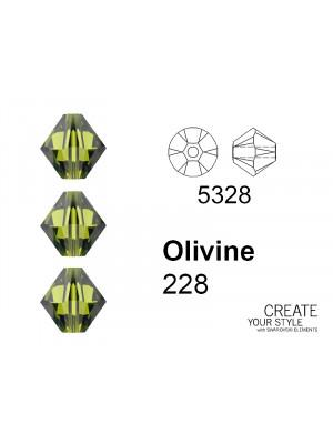 Swarovski Bicono OLIVINE - 5328