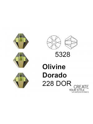 Swarovski Bicono OLIVINE DORADO - 5328