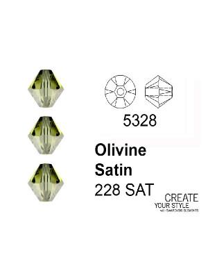 Swarovski Bicono OLIVINE SATIN - 5328