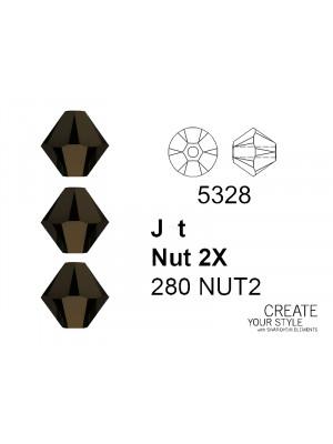 Swarovski Bicono JET NUT 2X - 5328