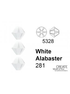 Swarovski Bicono WHITE ALABASTER - 5328