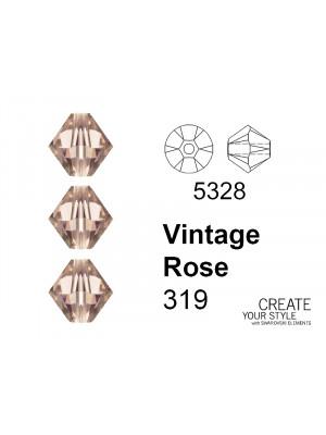 Swarovski Bicono VINTAGE ROSE - 5328