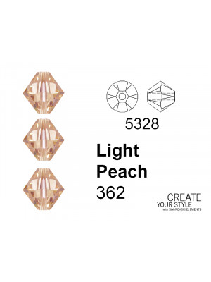 Swarovski Bicono LIGHT PEACH - 5328
