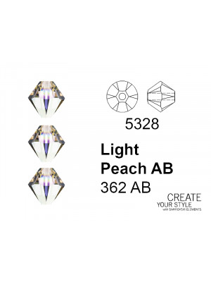 Swarovski Bicono LIGHT PEACH AB - 5328
