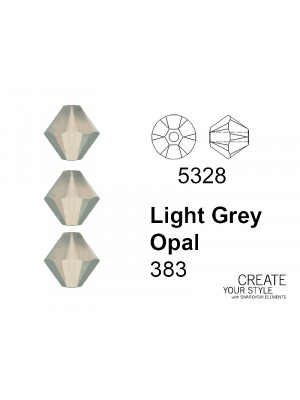 Swarovski Bicono LIGHT GREY OPAL - 5328