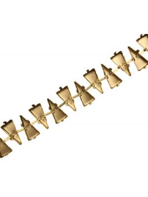 Catena porta gemme triangolari, 16x8 mm., base Ottone
