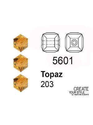 Swarovski Cubo TOPAZ - 5601