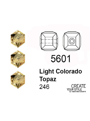 Swarovski Cubo LIGHT COLORADO TOPAZ - 5601