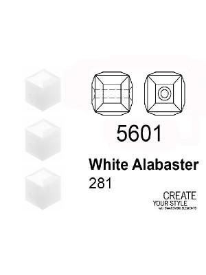 Swarovski Cubo WHITE ALABASTER - 5601