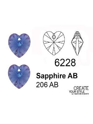 Swarovski Ciondolo Cuore SAPPHIRE AB - 6228