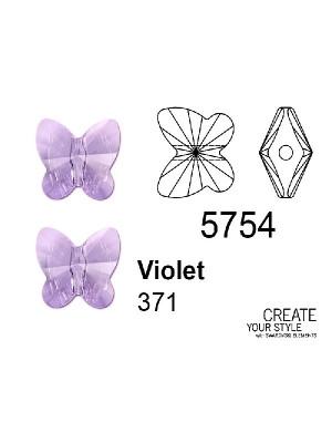 Swarovski Ciondolo Farfalla (foro passante) VIOLET - 5754