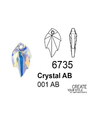 Swarovski Ciondolo Foglia CRYSTAL AB - 6735