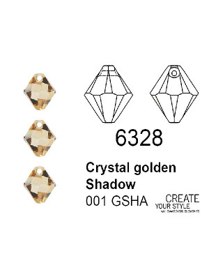 Swarovski Ciondolo Bicono CRYSTAL GOLDEN SHADOW - 6328