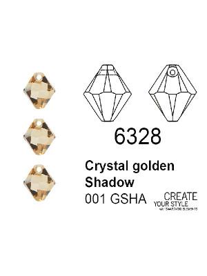 Swarovski Ciondolo Bicono CRYSTAL GOLDEN SHADOW - 6328