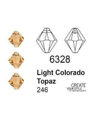 Swarovski Ciondolo Bicono LIGHT COLORADO TOPAZ - 6328