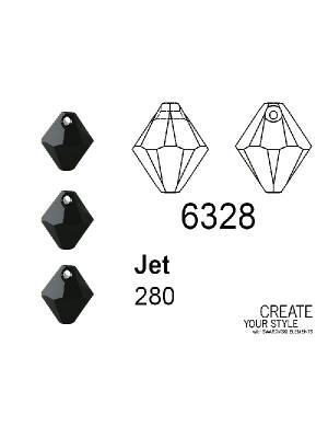 Swarovski Ciondolo Bicono JET - 6328