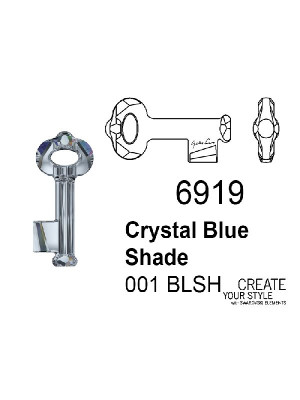 Swarovski Ciondolo Chiave CRYSTAL BLUE SHADE - 6919