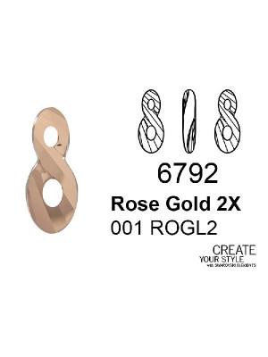 Swarovski Ciondolo Infinito ROSE GOLD 2X - 6792