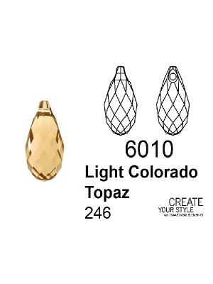 Swarovski Ciondolo Goccia LIGHT COLORADO TOPAZ - 6010
