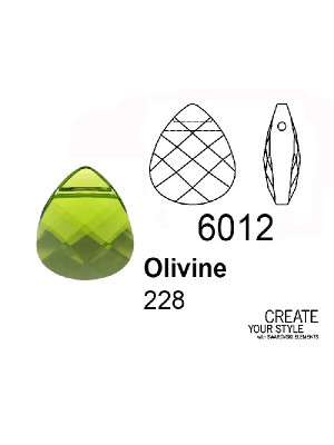 Swarovski Ciondolo Goccia a petalo OLIVINE - 6012