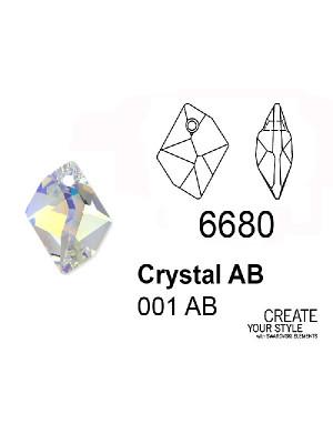 Swarovski Ciondolo Goccia romboidale CRYSTAL AB - 6680