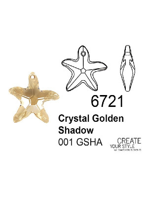 Swarovski Ciondolo Stella Marina CRYSTAL GOLDEN SHADOW - 6721