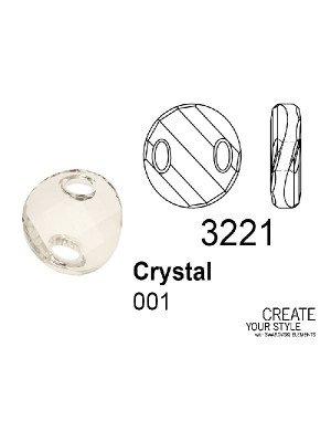 Swarovski Twist Sew-on Stone CRYSTAL - 3221