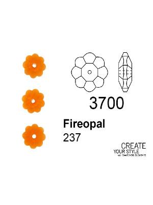 Swarovski Rondella a Fiore FIREOPAL - 3700