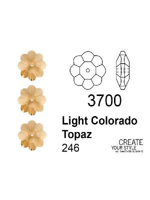 Swarovski Rondella a Fiore LIGHT COLORADO TOPAZ - 3700