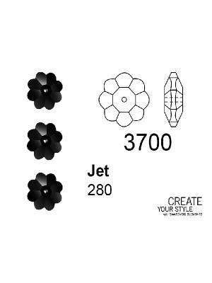 Swarovski Rondella a Fiore JET - 3700