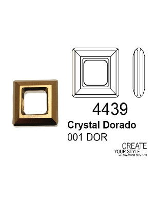 Swarovski Square Ring CRYSTAL DORADO - 4439