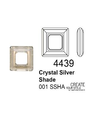 Swarovski Square Ring CRYSTAL SILVER SHADE - 4439