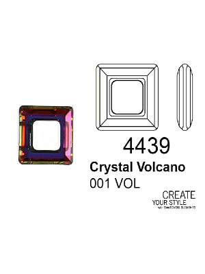 Swarovski Square Ring CRYSTAL VOLCANO - 4439