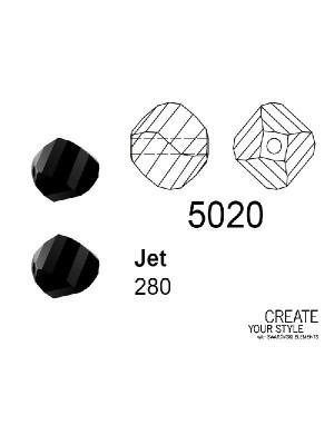 Swarovski Patata JET - 5020