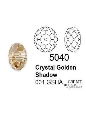 Swarovski Rondella a Cipolla CRYSTAL GOLDEN SHADOW - 5040